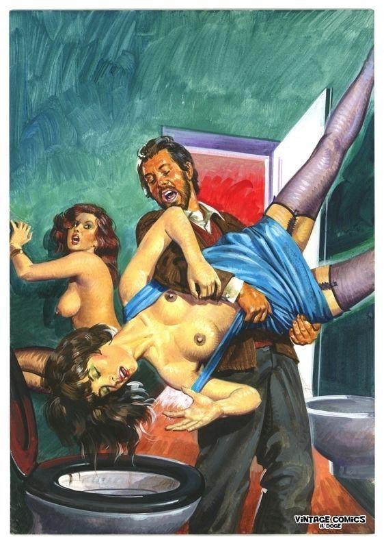 Смесь секса, ужаса и абсурда на обложках Эммануэля Таглиетти