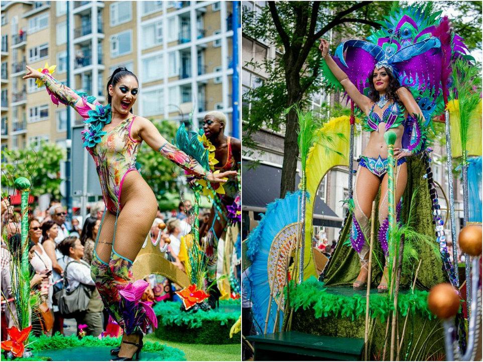 Яркий карнавал на улицах Роттердама