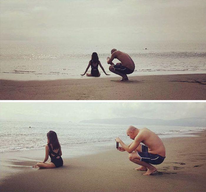 Нелегкая доля парней: фотографирование девушек