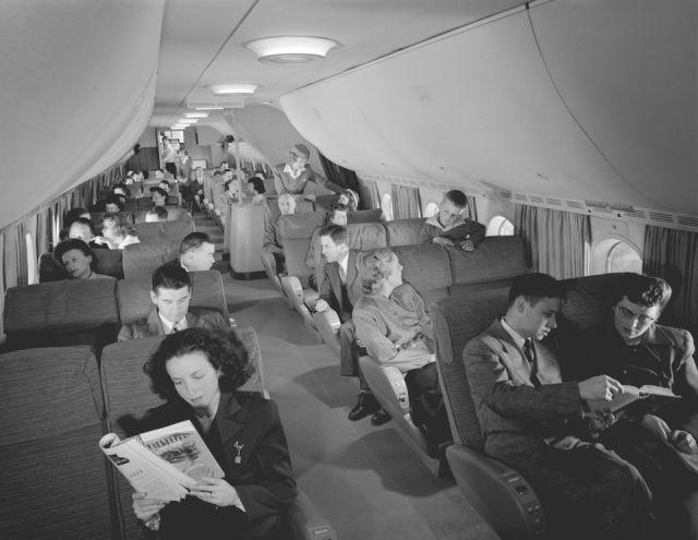 Архивные снимки авиаперелётов 1950-х годов