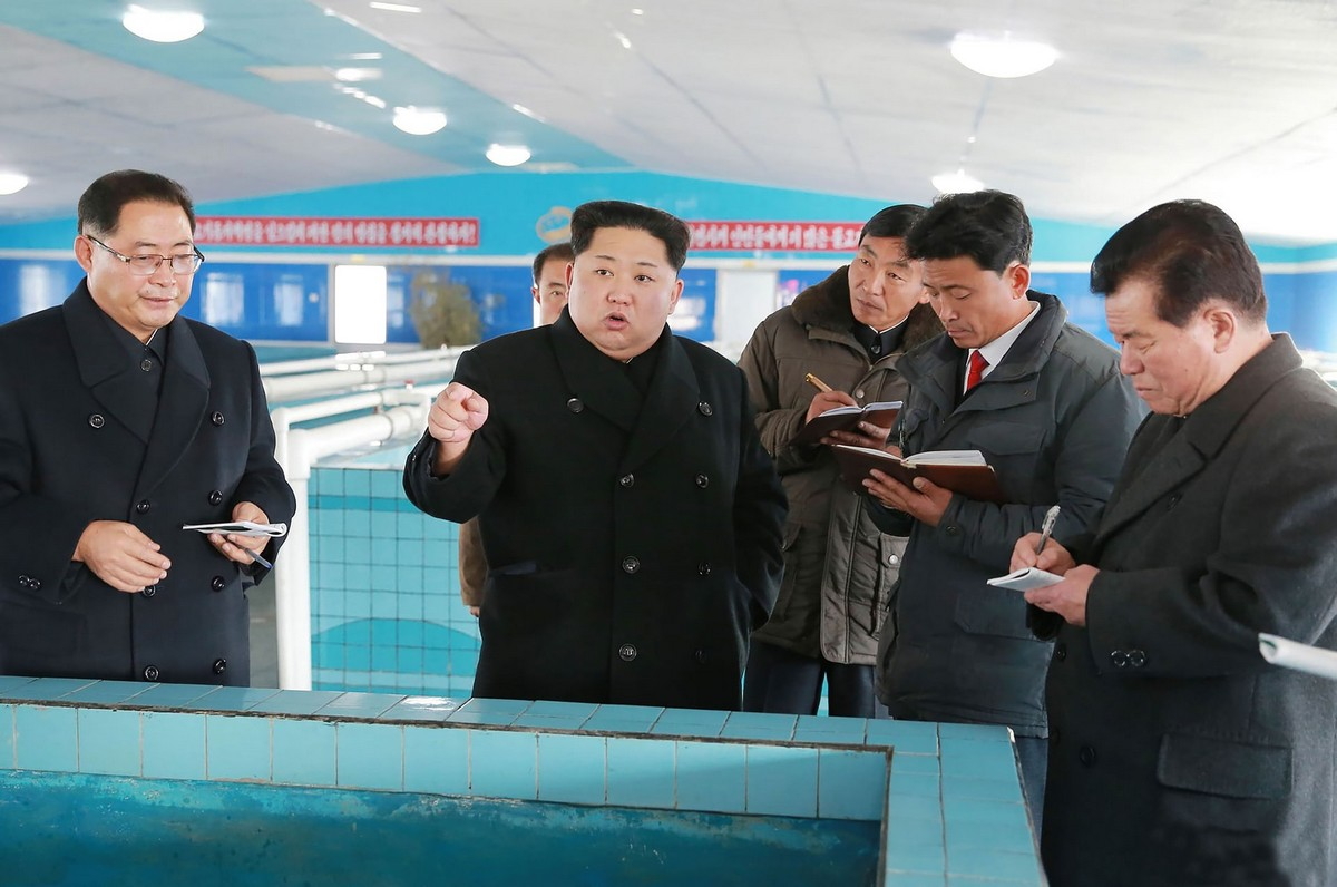 Лидер Северной Кореи Ким Чен Ын инспектирует различные объекты