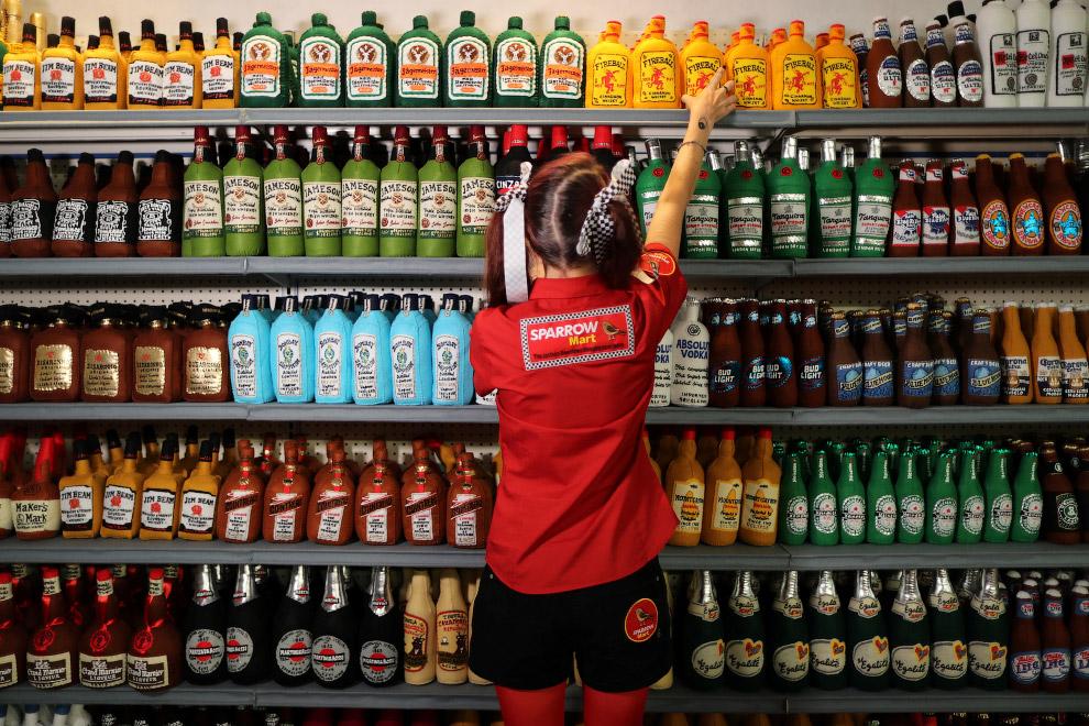 Необычный супермаркет из войлока в Лос-Анжелесе