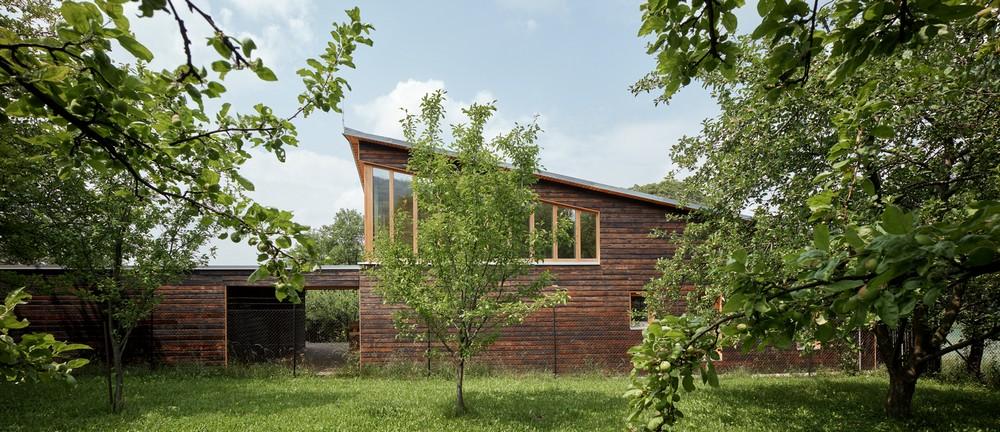 Деревянный дом Каштан в Чехии