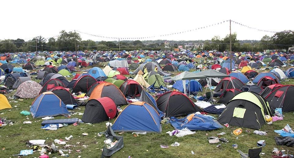Что оставили посетители музыкального фестиваля в Великобритании