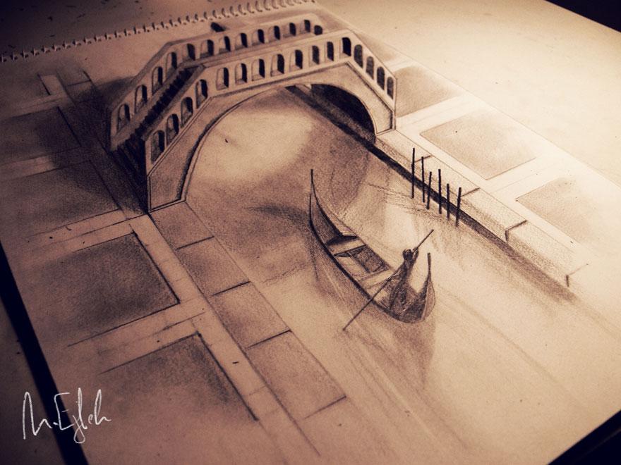 Гиперреалистичные объемные рисунки талантливых художников