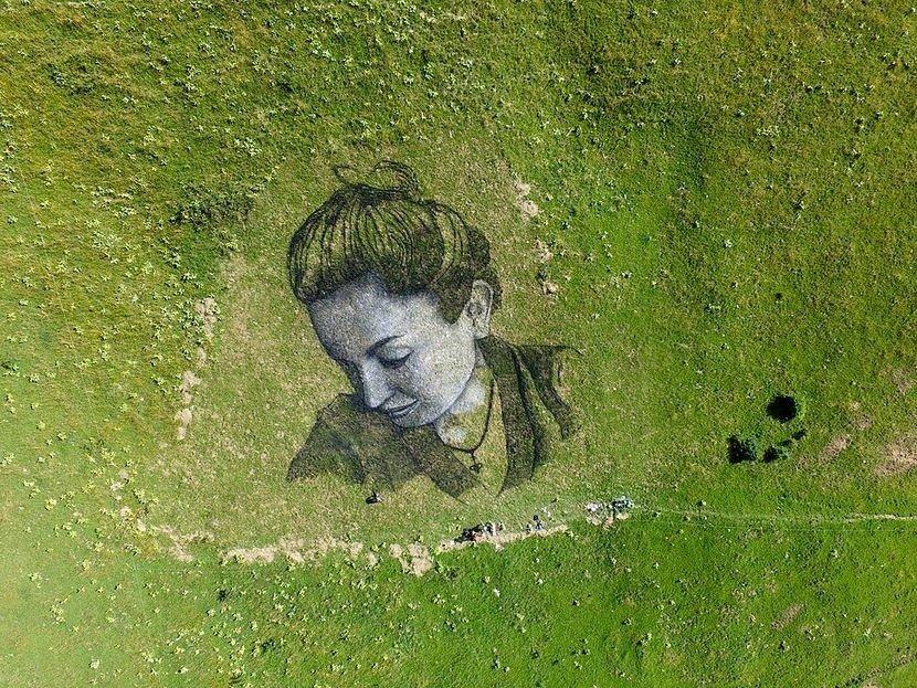 Недолговечный лэнд-арт от Гийома Легро