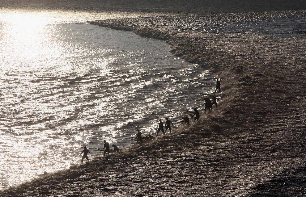 Уникальное явление природы: приливные волны
