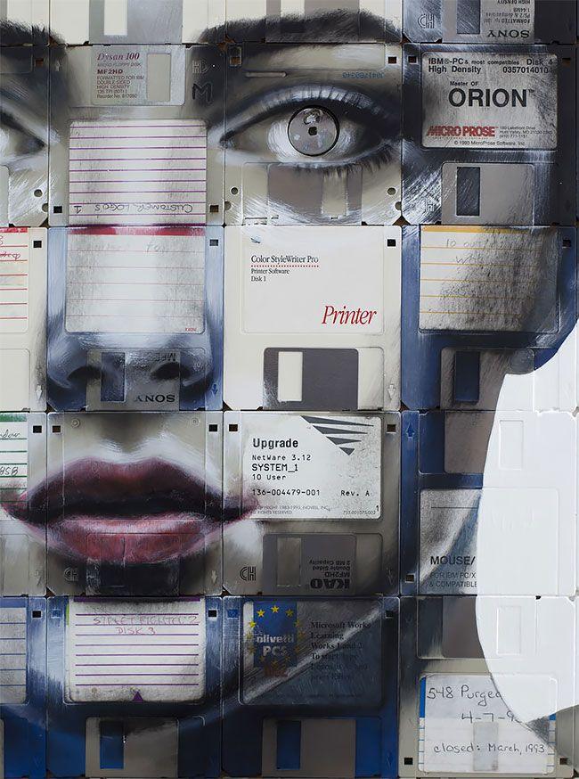 Классные картины на старых дискетах
