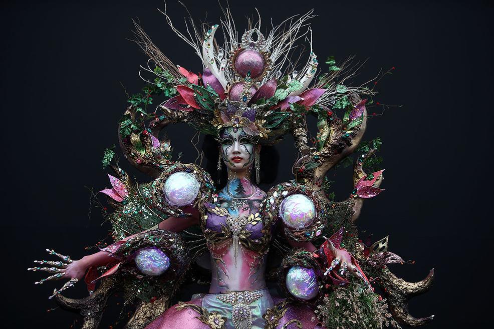 Красочные работы ежегодного фестиваля бодиартинга в Тэгу