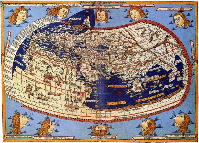 О географических картах прошлых лет