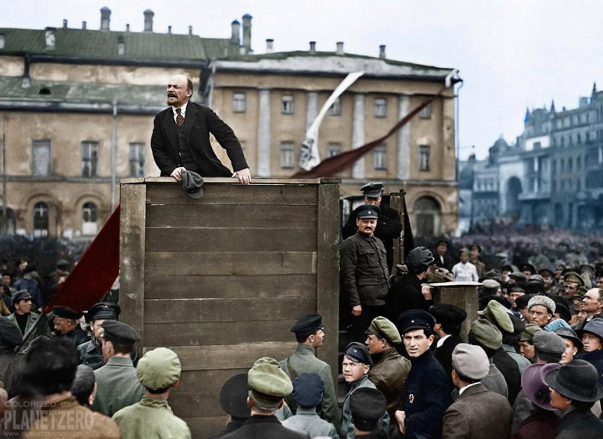 Николай II, Ленин и большевики на исторических снимках в цвете