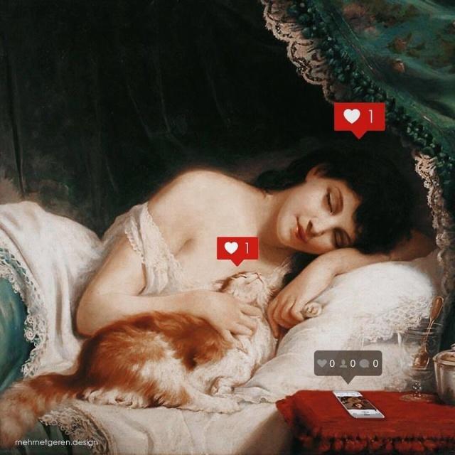 Персонажи известных картин в современной реальности