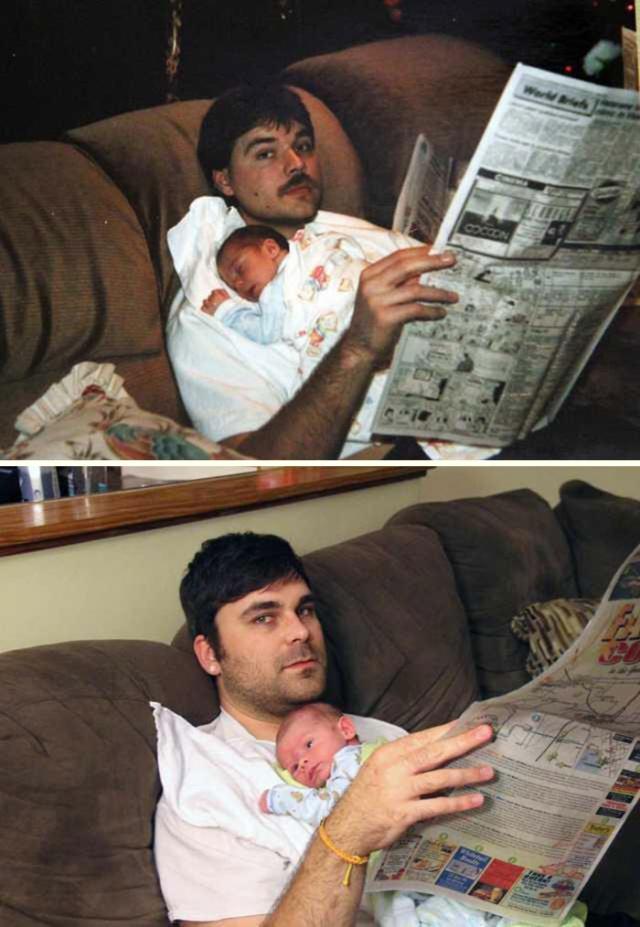 Они воссоздали старые снимки спустя много лет