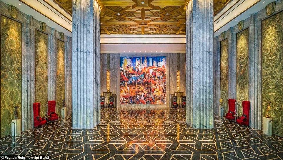 Прогулка по роскошному семизвездочному отелю в Китае