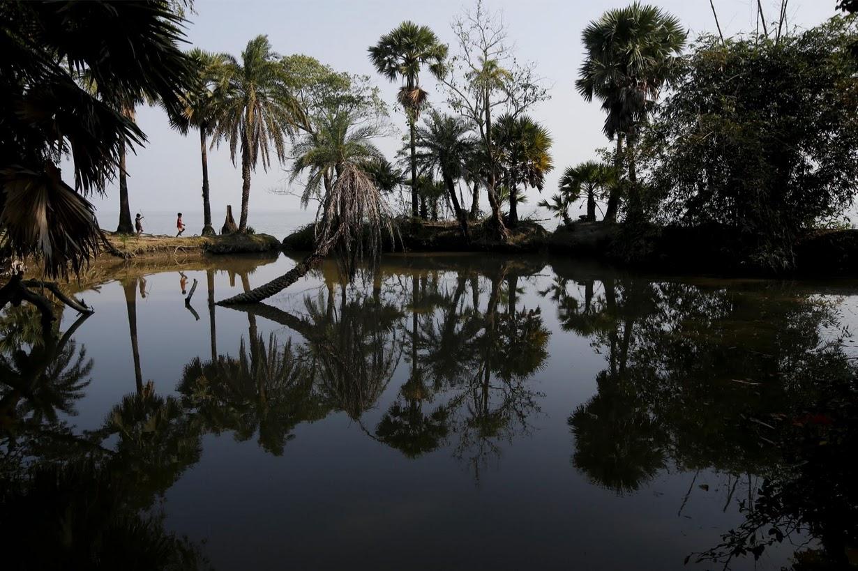 Исчезающий остров в Индии