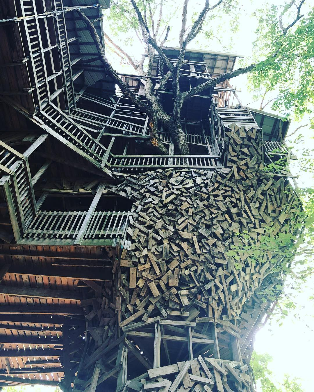 11-этажный домик на дереве