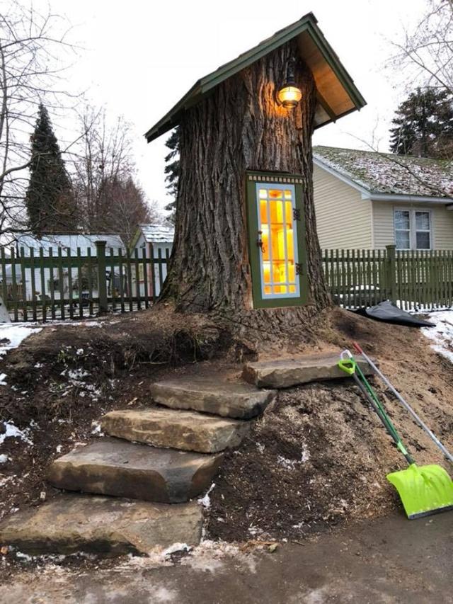 Миниатюрная библиотека из старого 110-летнего дерева