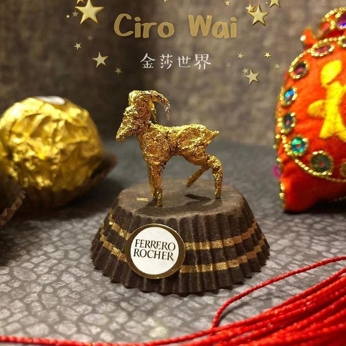Невероятные скульптуры из упаковки Ferrero Rocher
