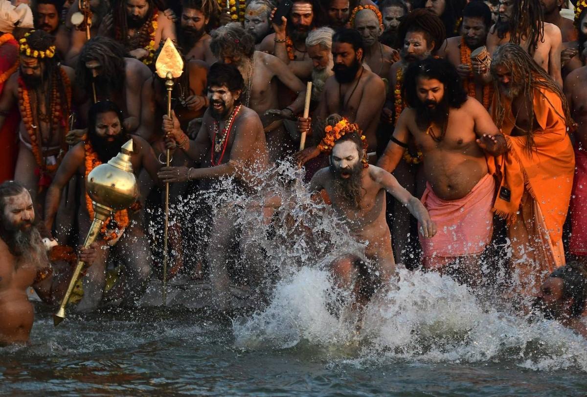 2018 Kumbh Mela Fesztivál Indiában