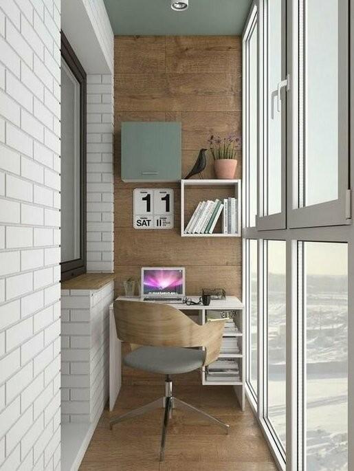 Крутые идеи для маленьких и узких балконов