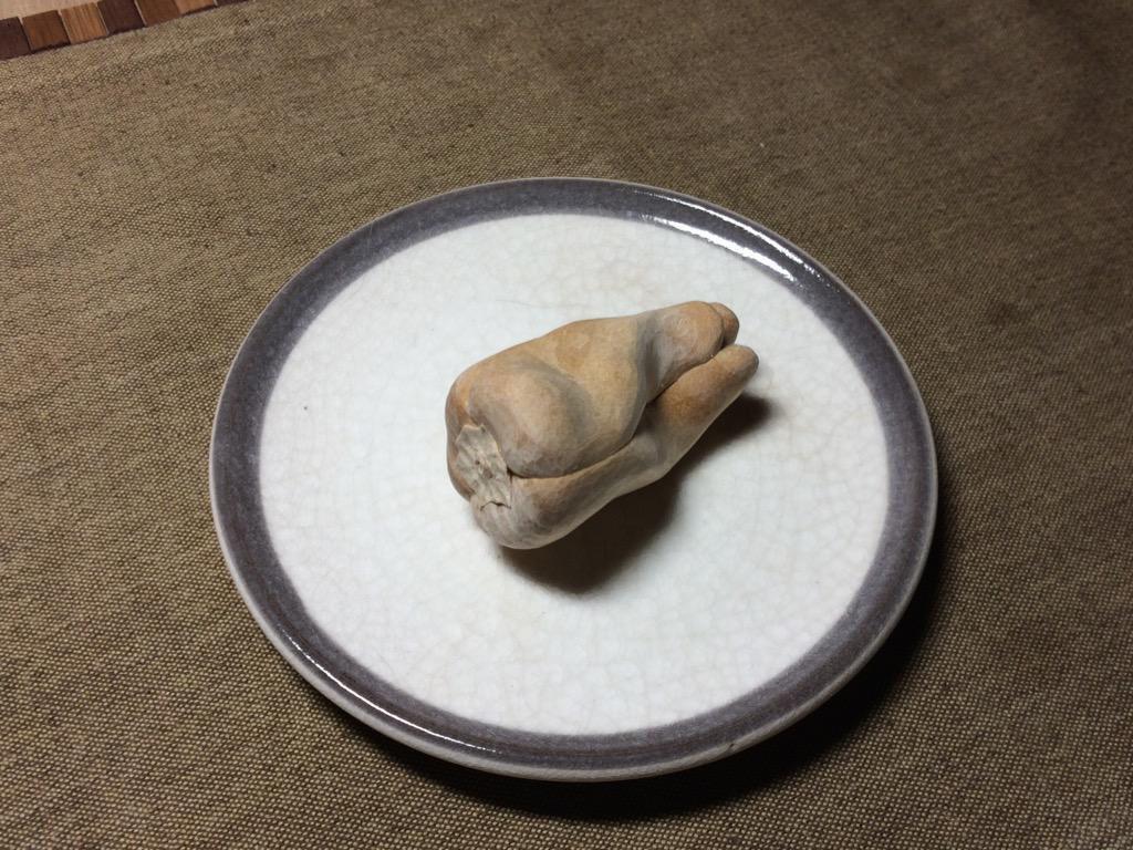Fából készült étel egy japán művésztől