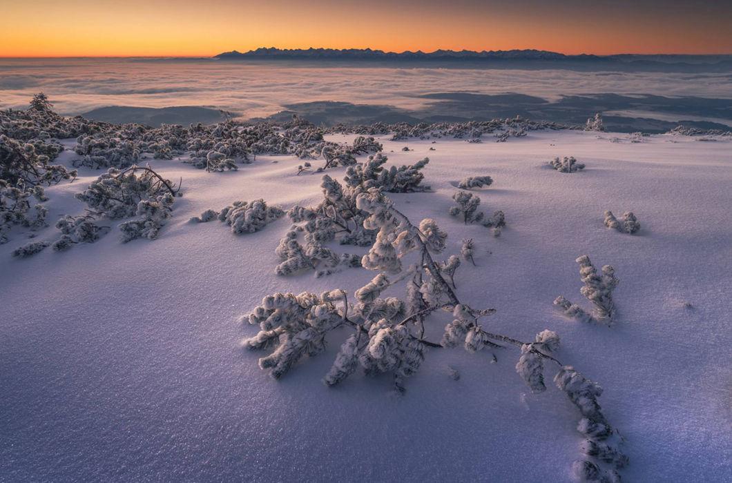 Впечатляющая красота польских гор зимой