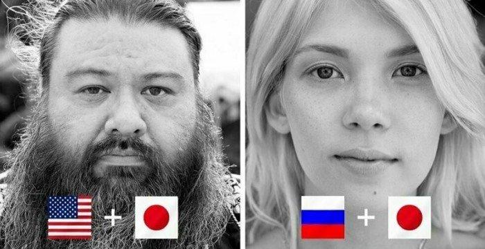 Представители хафу - люди с полу-японским происхождением