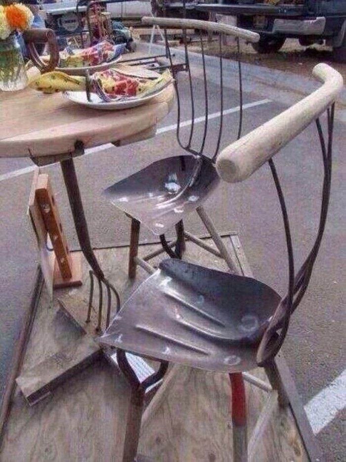 Hűvös ötletek a régi kerti eszközök használatához