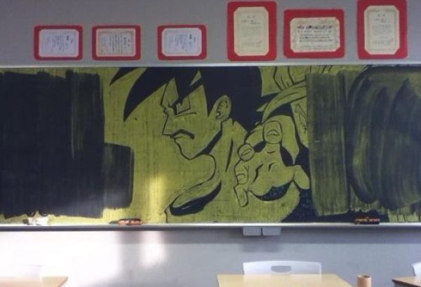 Что японские школьники рисуют на доске