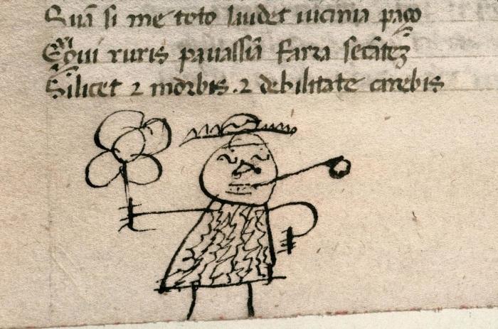 Студенческие каракули, обнаруженные на страницах древнейших книг и рукописей