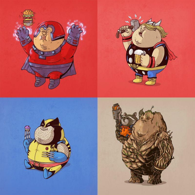 Зажравшиеся герои мультиков, фильмов и комиксов