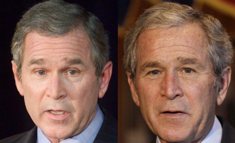Насколько менялась внешность президентов США за срок правления