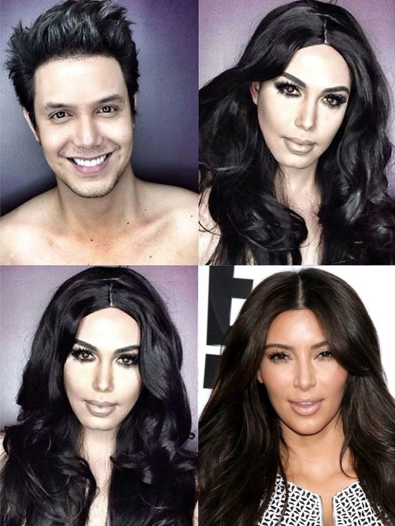 Филиппинский актер с помощью грима превращает себя в известных девушек