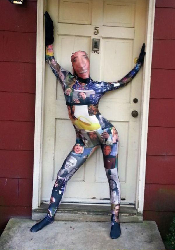 Веселый костюмчик из спандекса с принтом Николаса Кейджа