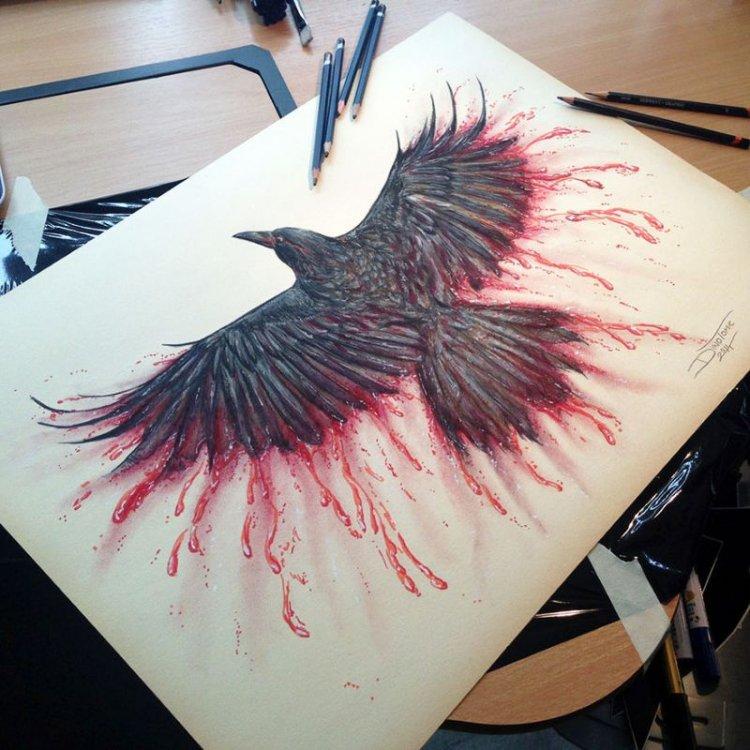 Карандашные рисунки от тату-мастера