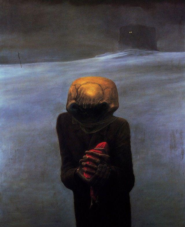 Необычные картины Здзислава Бексиньского