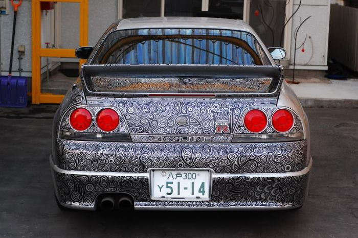 Удивительный способ покраски автомобиля