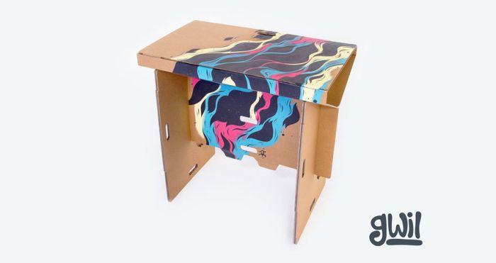 Стол-трансформер из картона