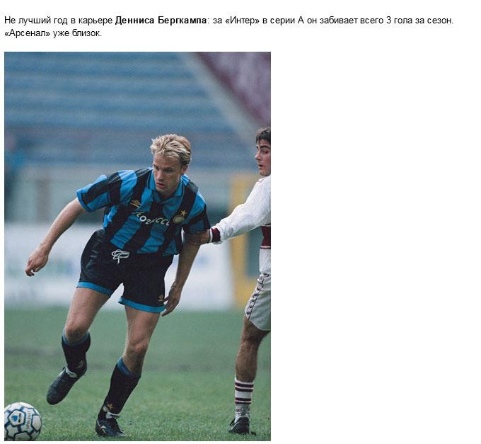 Звезды европейского футбола 20 лет назад