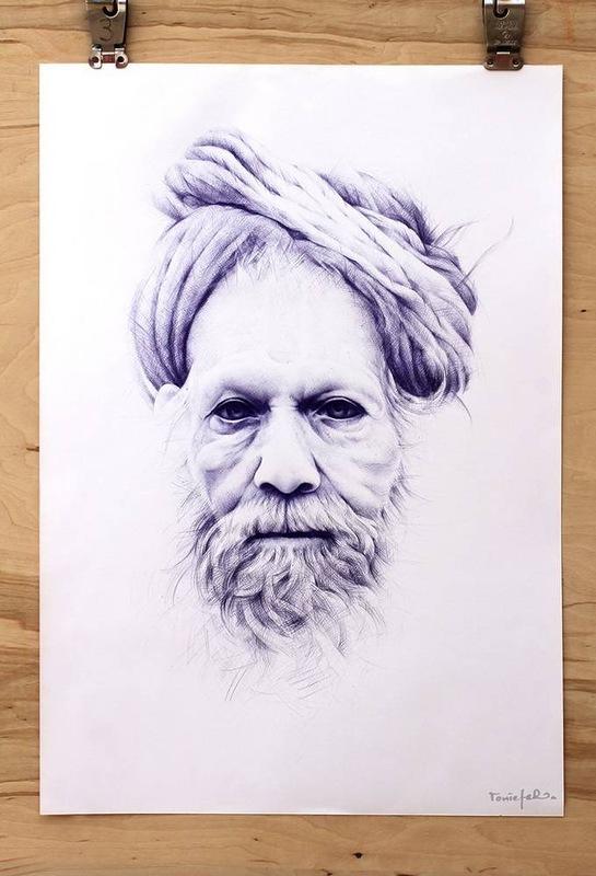 Портреты шариковой ручкой