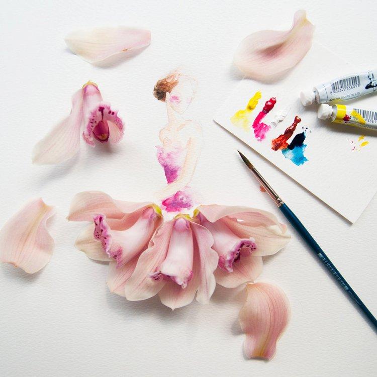 Прекрасные картины из цветов