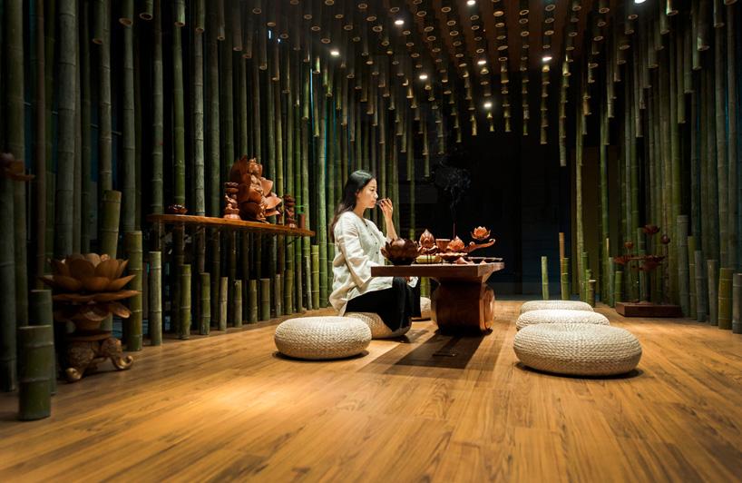 Интересная комната для чайных церемоний