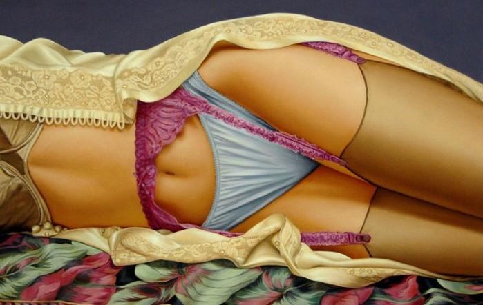 Картины с привлекательными женскими элементами