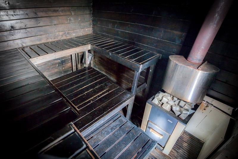Плавающая сауна-домик в Финляндии