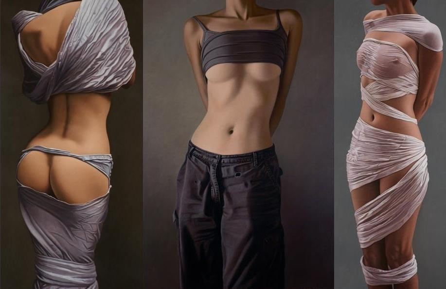 Привлекательные части женского тела в картинах Вилли Киссмера