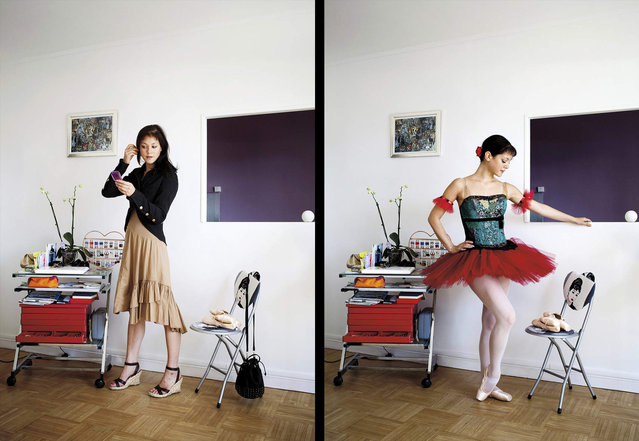 В домашней и рабочей одежде