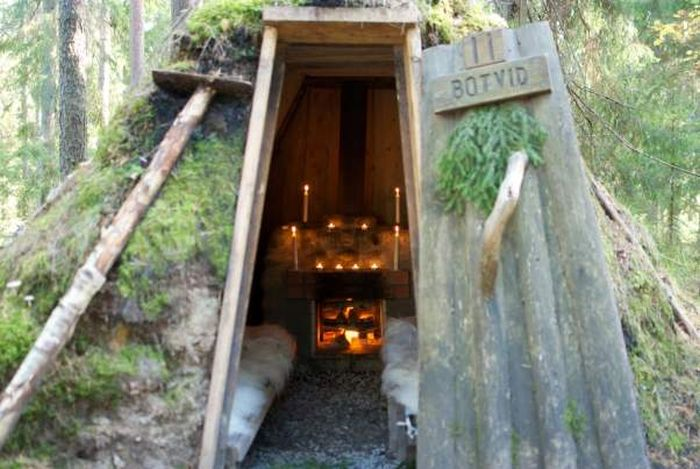 Уникальный отель в лесу
