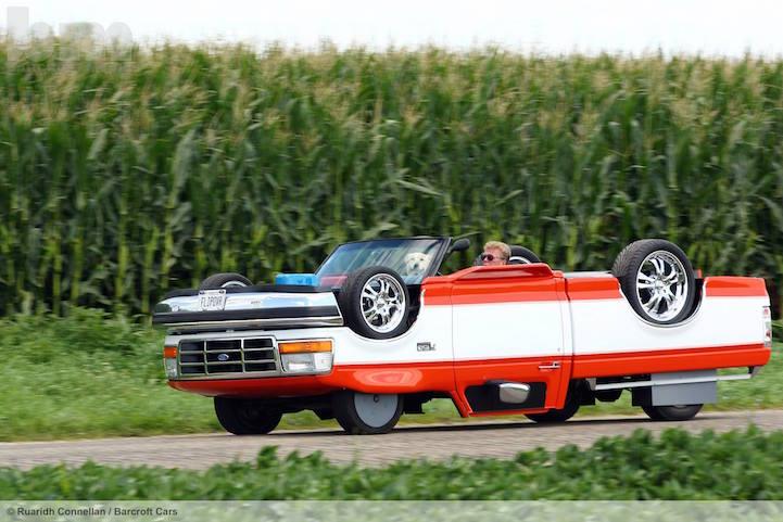 Машина вверх тормашками