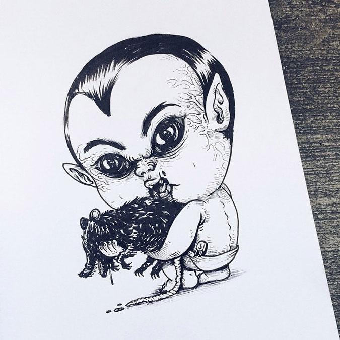 Пугающие младенцы - герои ужастиков