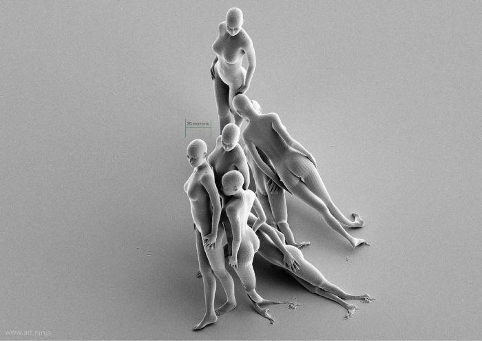 Скульптуры, которые видны только под электронным микроскопом